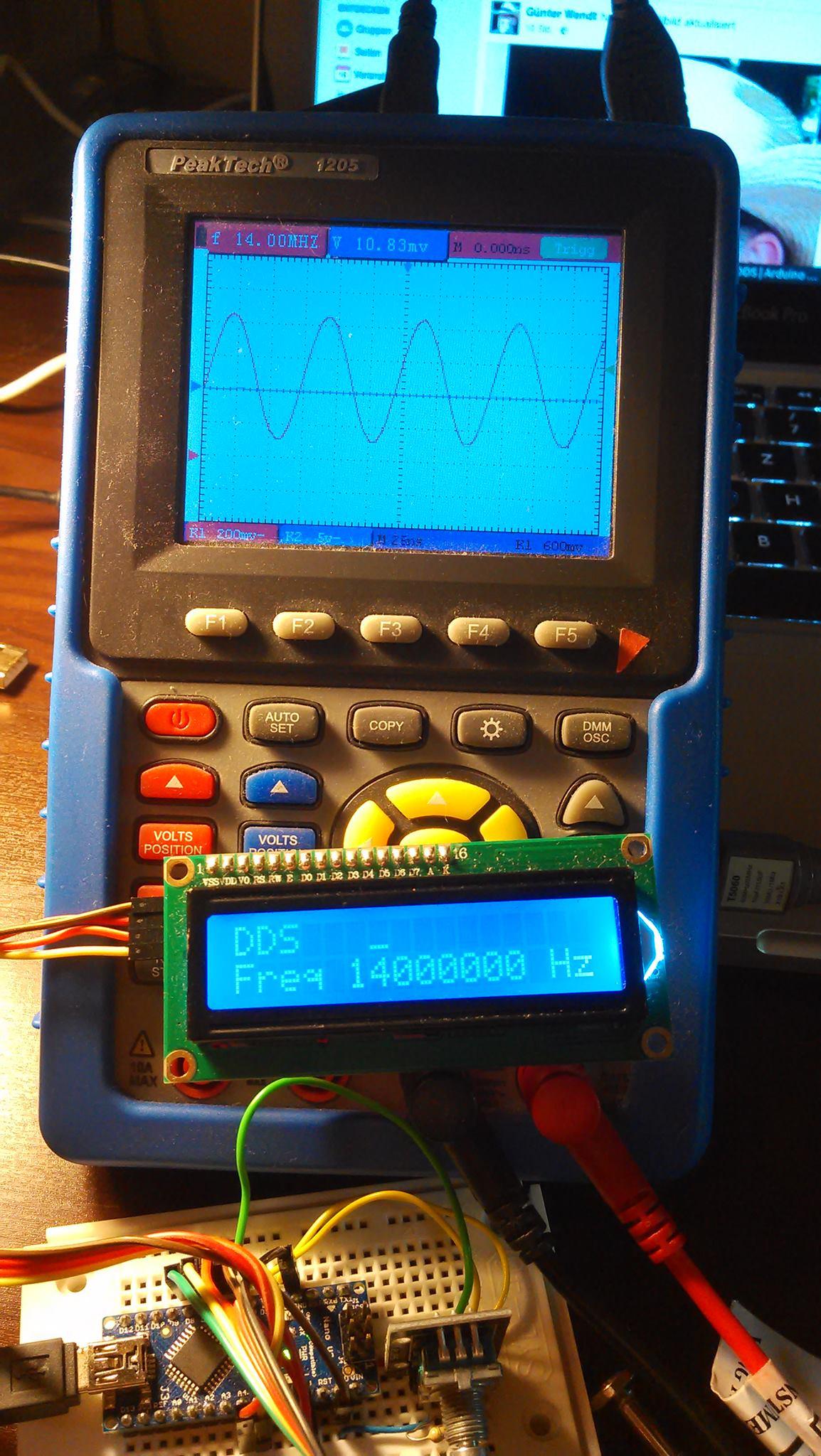 Arduino-AD9850-DDS [Hackerspace Bremen e V ]